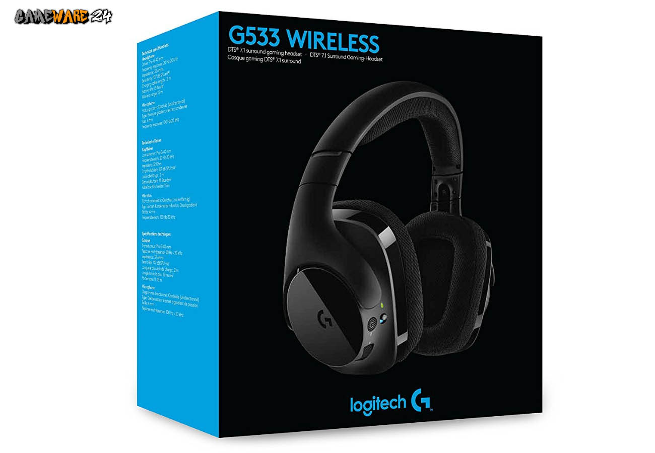 Das Wireless Gaming Headset Logitech G533 im Test
